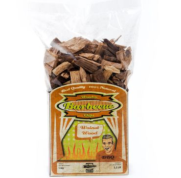 BBQ wood chips Walnut -  20-40 mm 1 kg