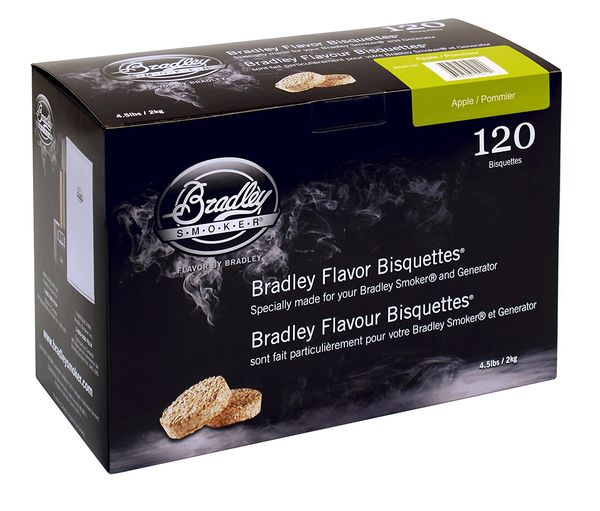 Bradley Smoker Bisquettes 120 Pack - Apple